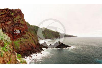 Cliff. La Palma. Canary Islands. Spain
