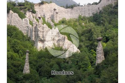 Hoodoo. Zone. Lombardy. Italy