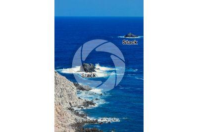 Stack. San Pietro Island. Sardinia. Italy