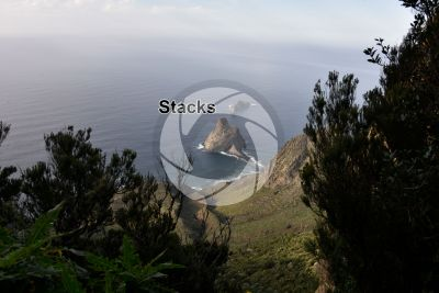 Stack. Anaga. Tenerife. Canary Islands. Spain