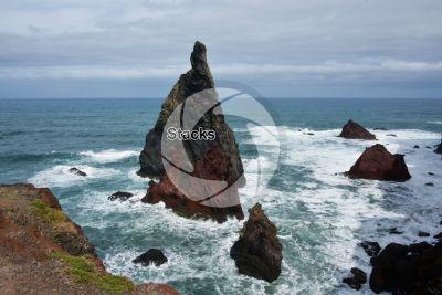 Stack. Ponta de Sao Lourenco. Madeira. Portugal