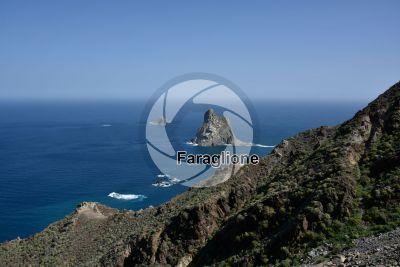 Faraglione. Anaga. Tenerife. Isole Canarie. Spagna