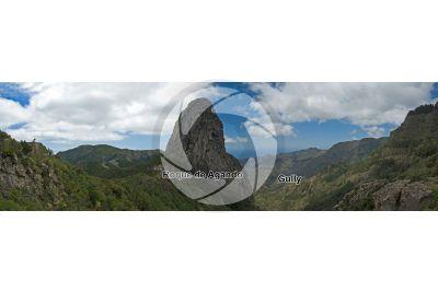 Volcanic neck. Roque de Agando. La Gomera. Canary Islands. Spain