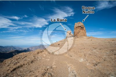 Volcanic neck. Roque Nublo. Gran canaria. Canary Islands. Spain