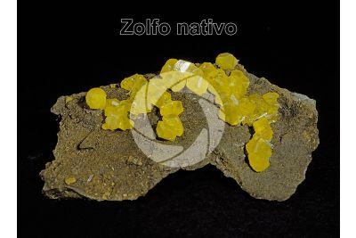 Zolfo nativo. Sicilia. Italia