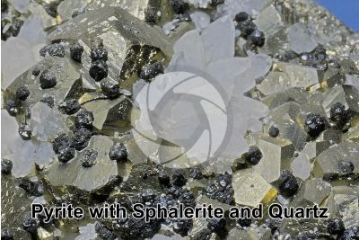 Pyrite with Sphalerite and Quartz