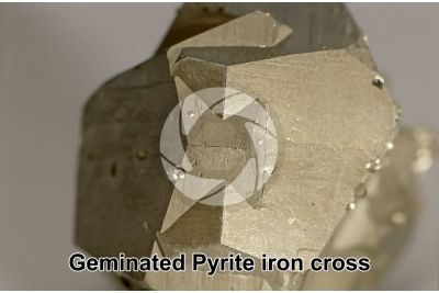 Geminated Pyrite iron cross