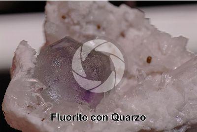 Fluorite con Quarzo