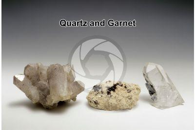 Quartz and Garnet