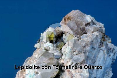 Lepidolite con Tormalina e Quarzo