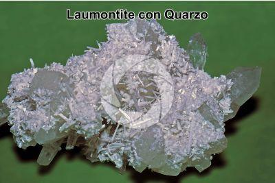 Laumontite con Quarzo
