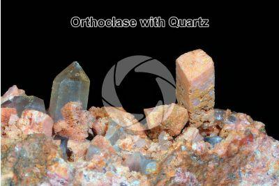 Orthoclase with Quartz
